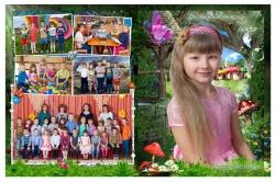 Детский выпускной фотоальбом обложка